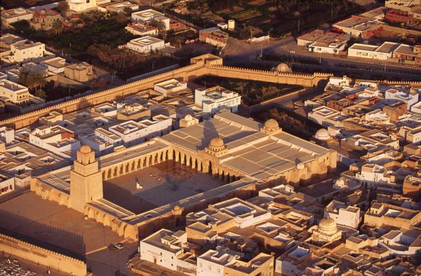 Vue aérienne de la mosquée