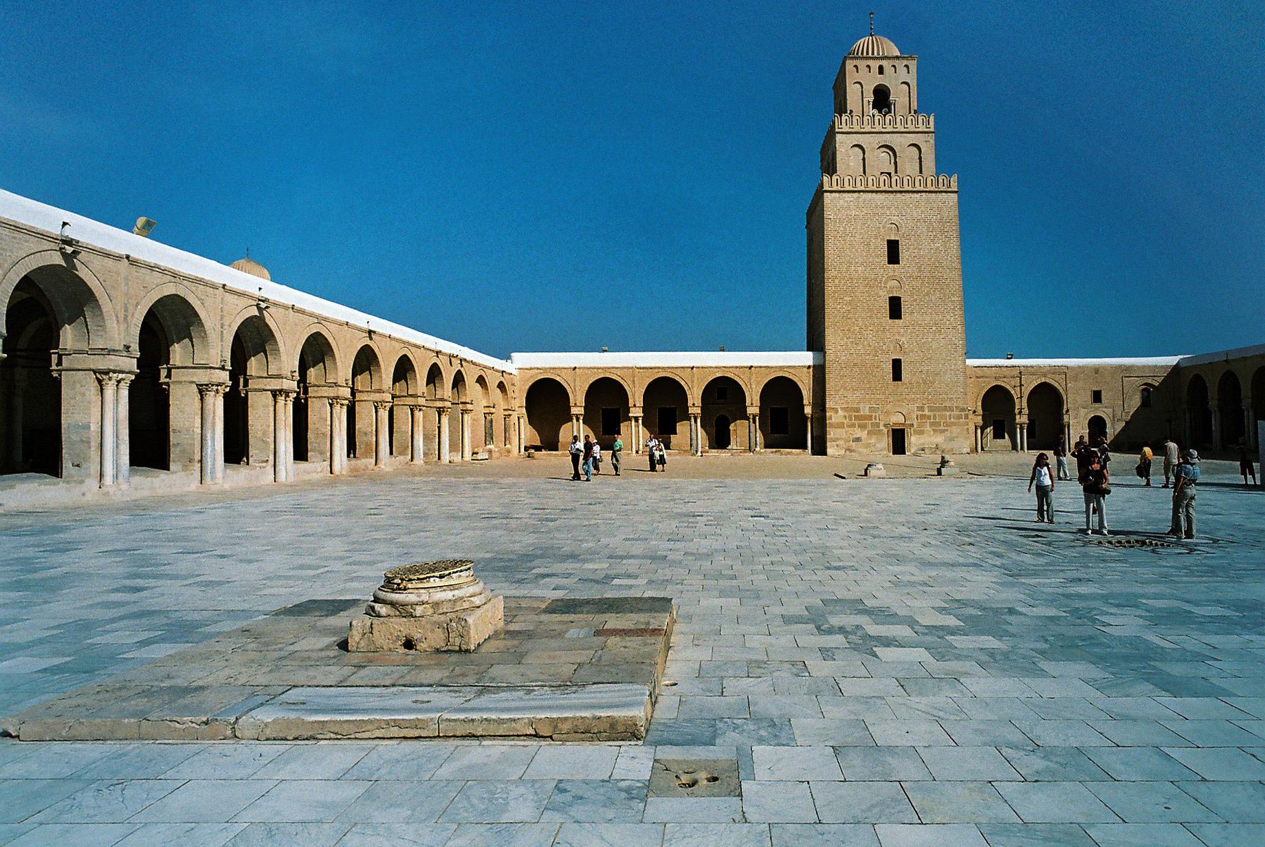 Cour intérieure de la mosquée